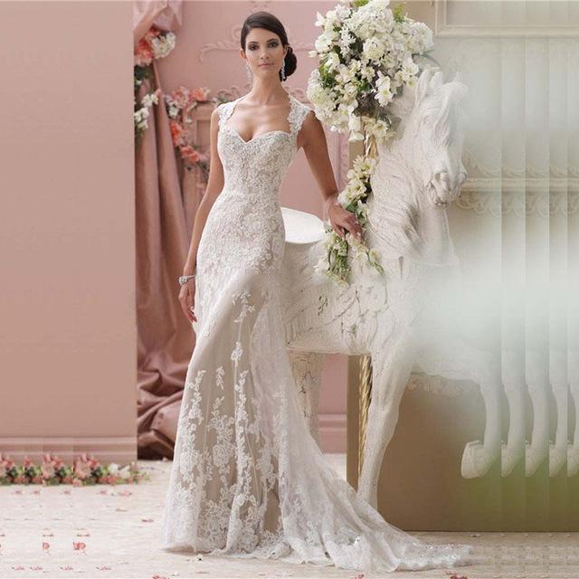 vestido de novia vintage con encaje