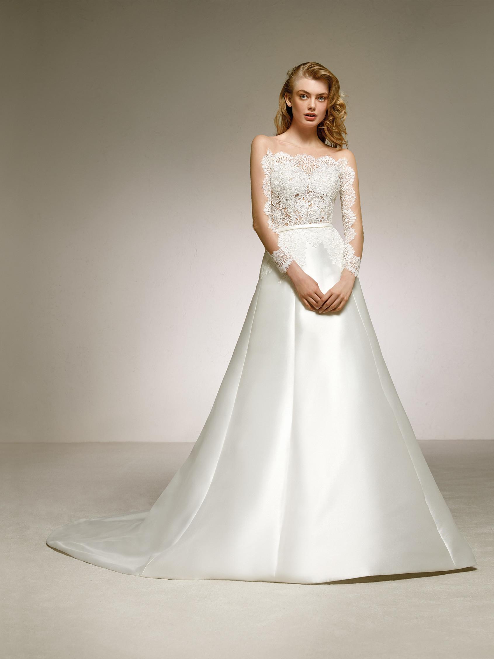 vestido de novia sencillo con encaje