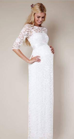 vestido de novia sencillo embarazada