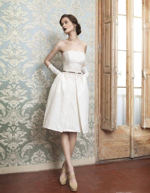 vestido de novia vintage civil