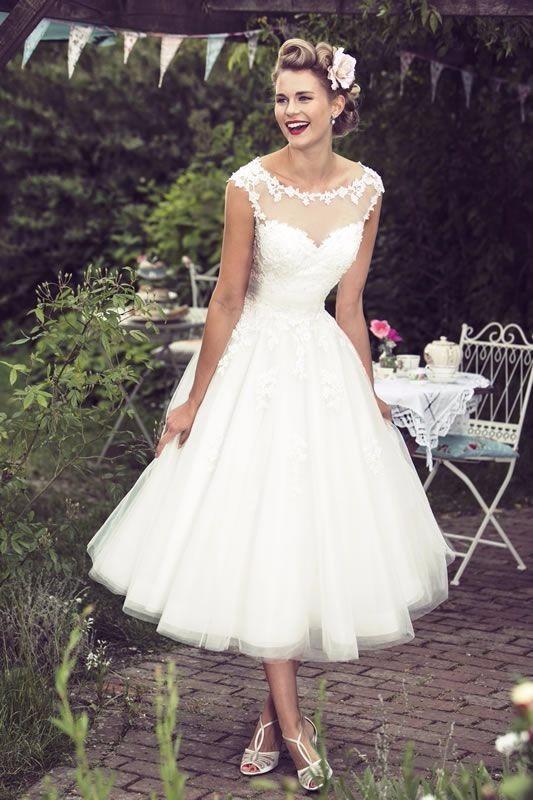 vestidos de novia vintage cortos