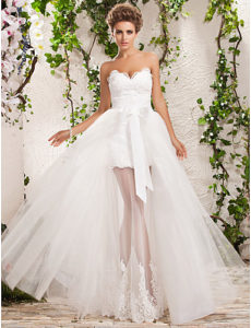 vestidos de novia con transparencia