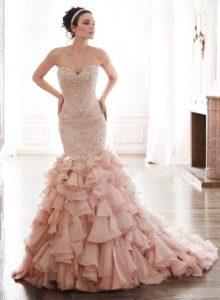 vestidos de novia rosa claro