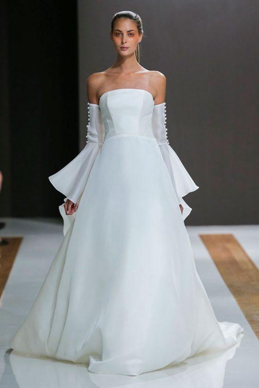 vestidos de novia modernos y sencillos