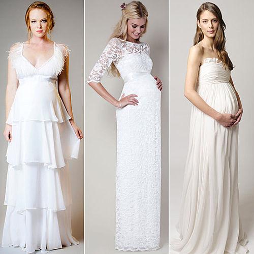 vestidos de novia largos para embarazada