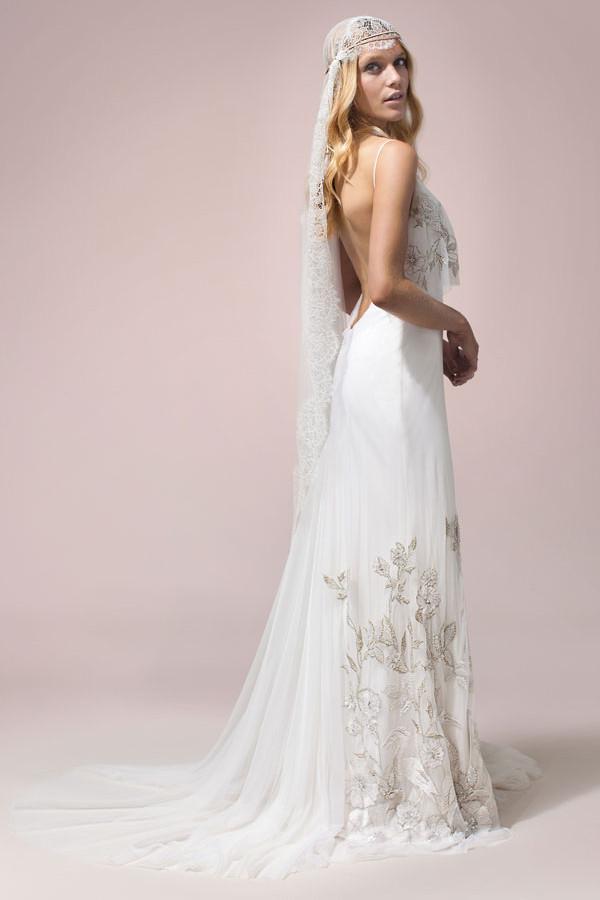 vestidos de novia bohemios romanticos