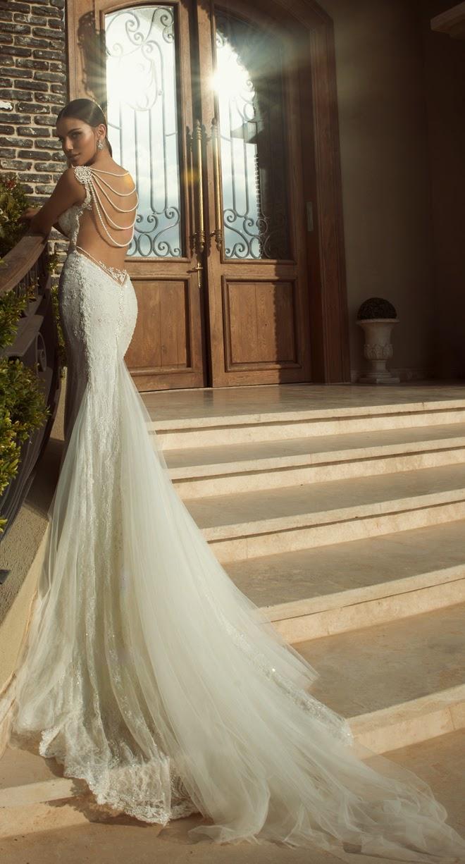 vestido de novia con escote moderno