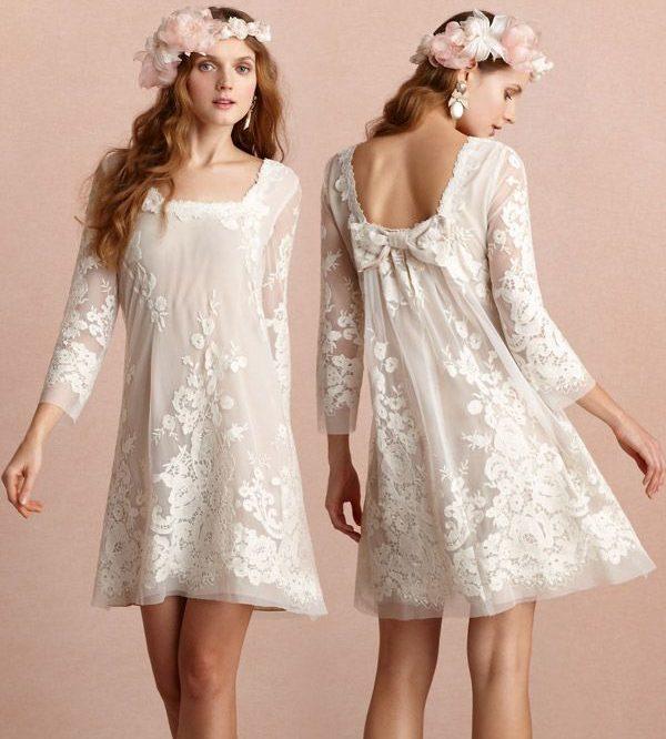 vestido de novia hippie para civil