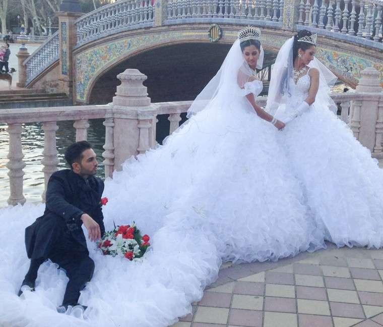 Vestidos de novia de bodas gitanas