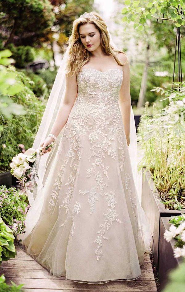 vestidos de novia para gorditas de colores