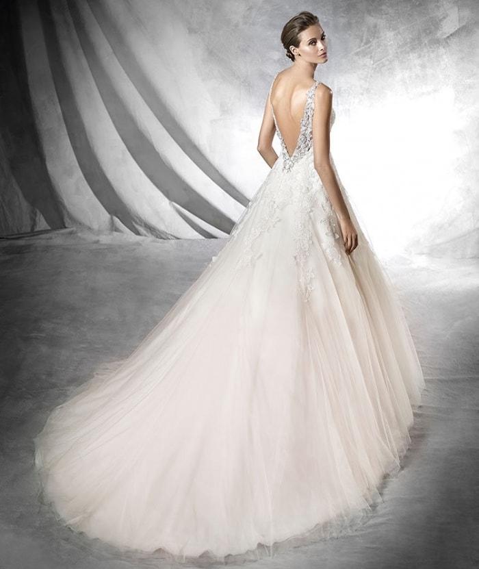 vestidos de novia de pronovias espalda descubierta