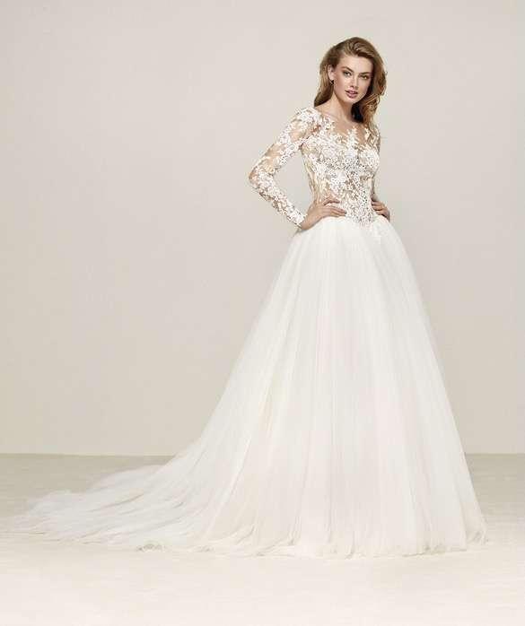 vestido de novia romantico pronovias