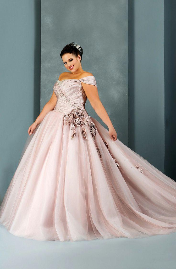 vestido de novia rosa para gorditas