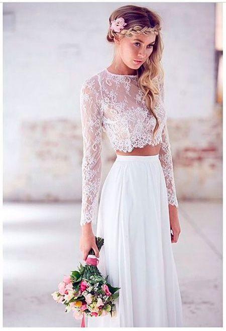 vestidos de novia civil para invierno