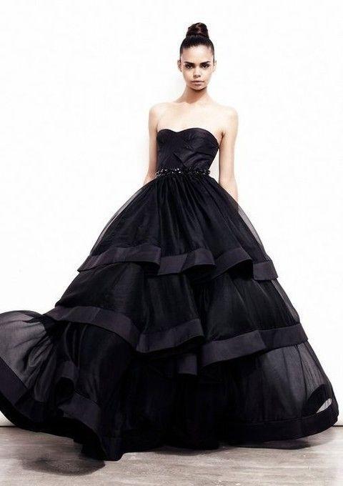 vestidos de novia color negro