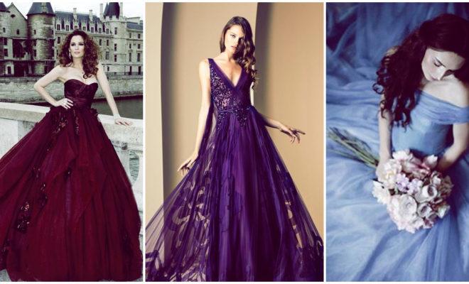 vestidos de novia colores originales