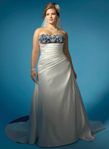 vestidos de novia colores para tallas grandes