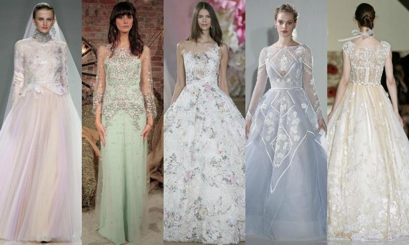 vestidos de novia colores