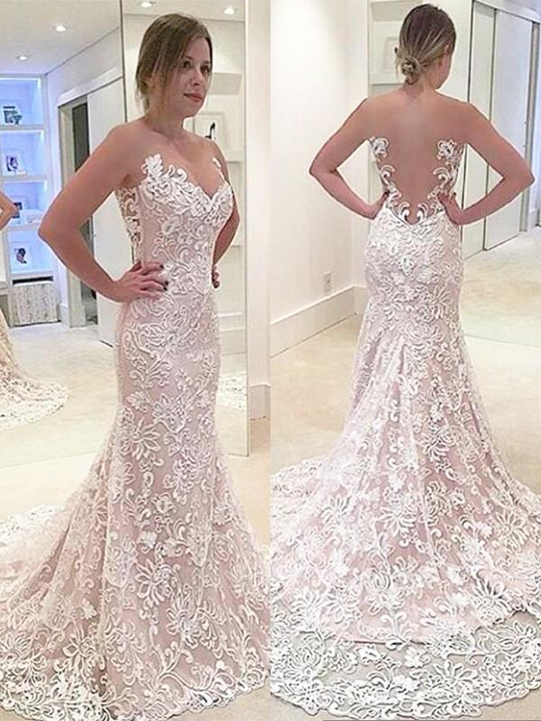 vestidos de novia con encaje modelos
