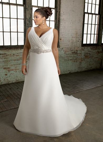 vestidos de novia corte imperio gorditas