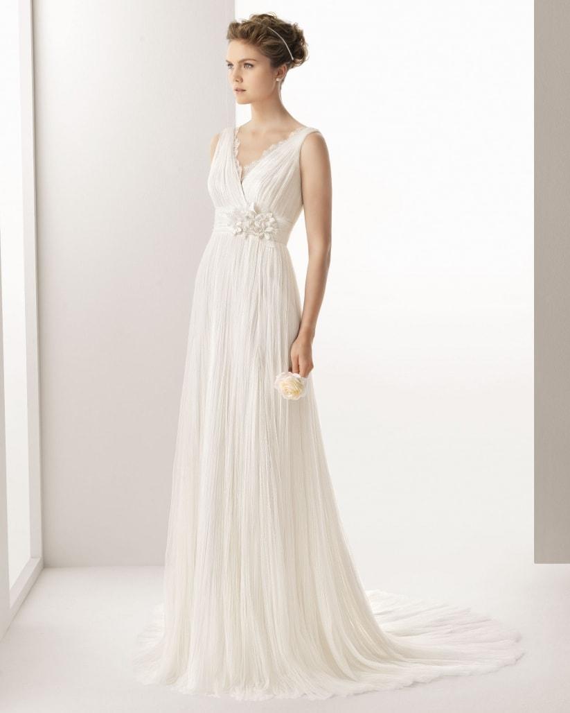 vestidos de novia corte imperio