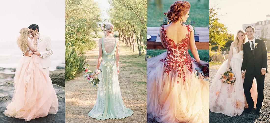 vestidos de novia diferentes de colores