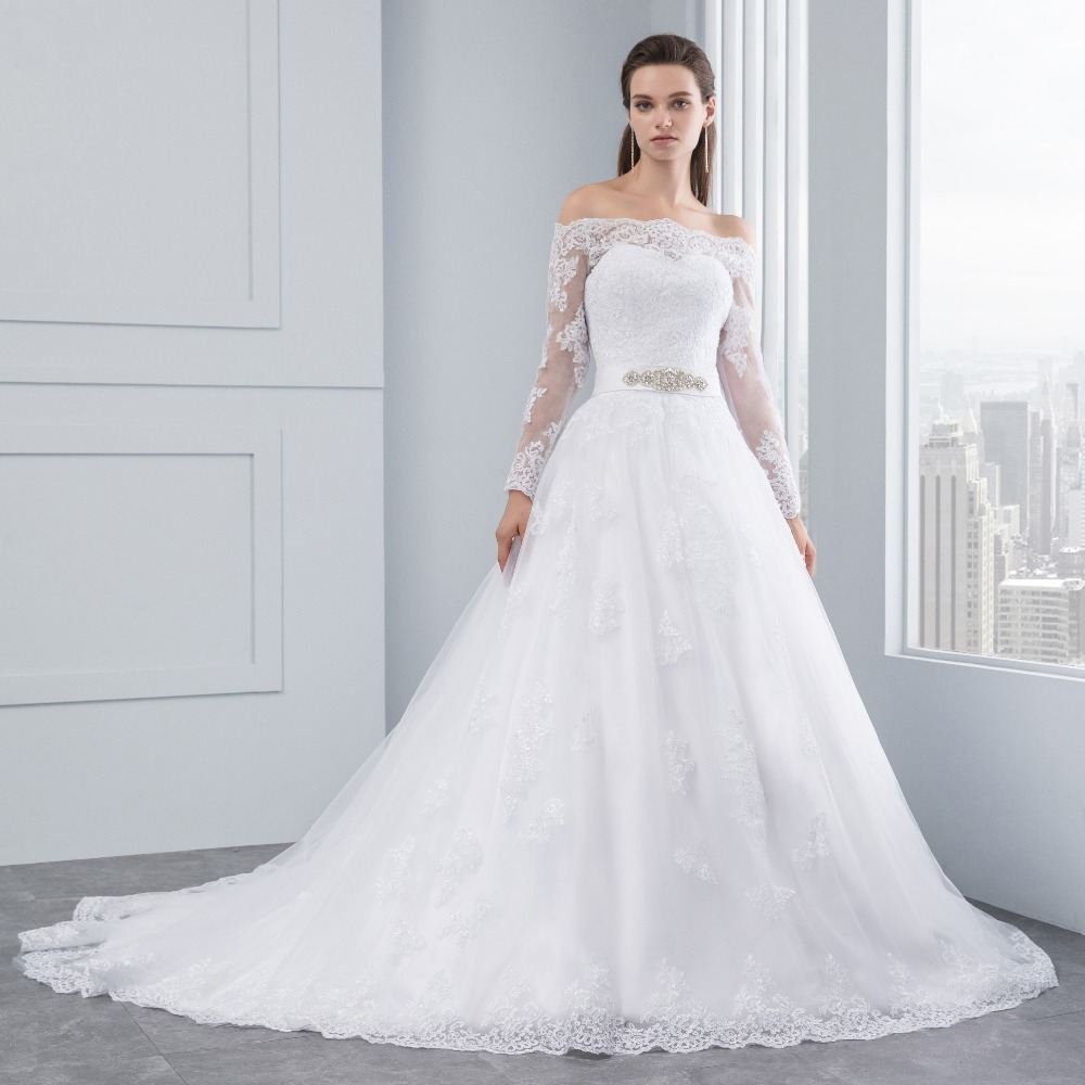 vestidos de novia con encaje 2019