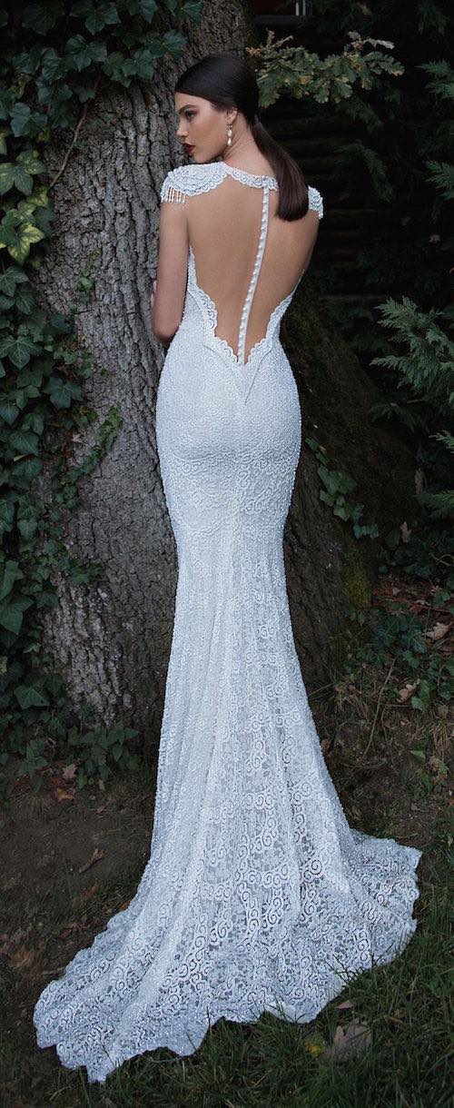 vestidos de novia espalda descubierta corte sirena
