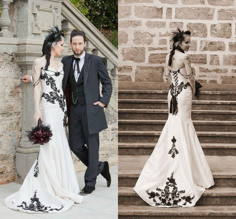 vestidos de novia goticos blancos