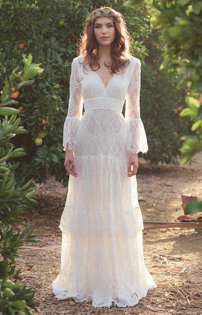 vestidos de novia hippie ejemplos