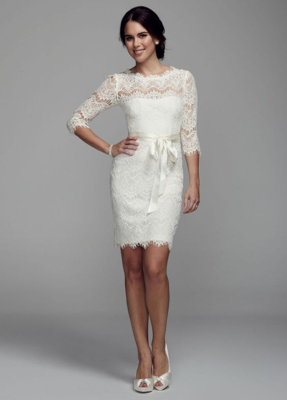 vestidos de novia para boda civil invierno