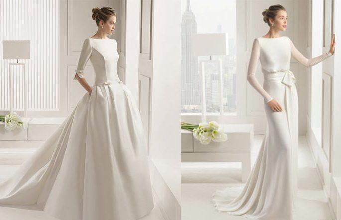 Vestido novia invierno informal