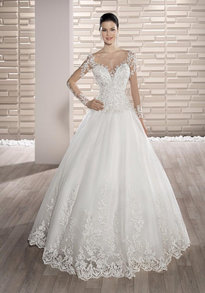 vestidos de novia manga larga modelos