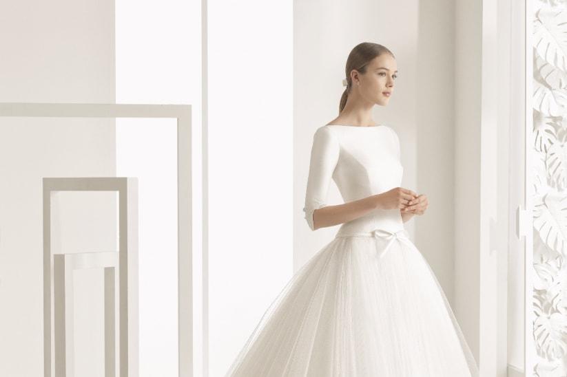 vestidos de novia con mangas al codo