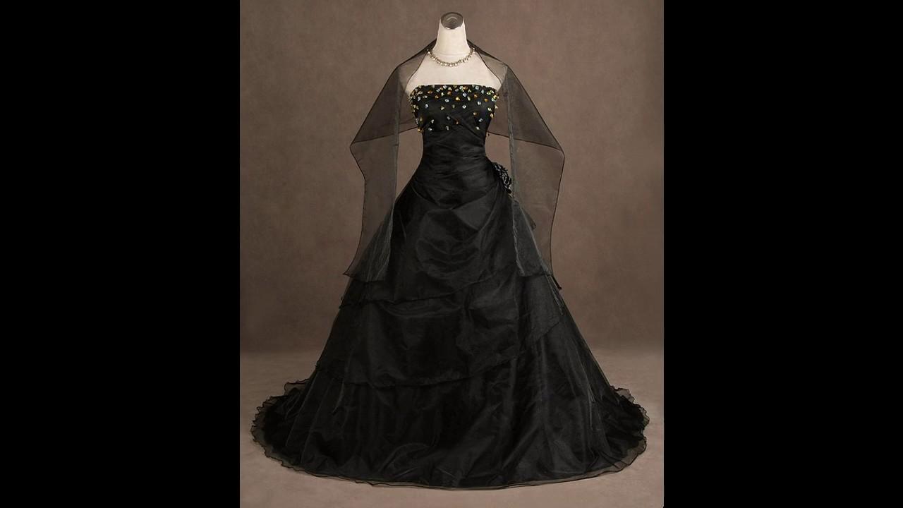 vestidos de novia negros goticos