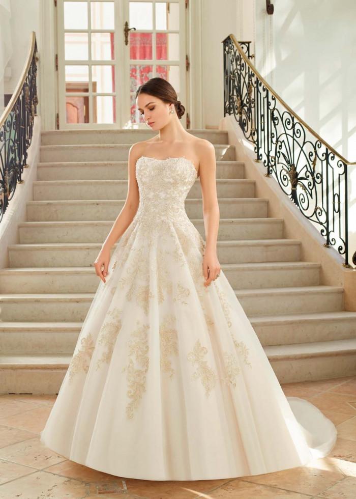 vestidos de novia palabra de honor sencillos