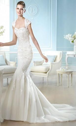 vestidos de novia palabra de honor corte