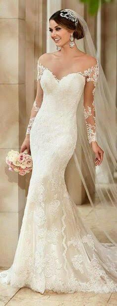 vestidos de novia sirena con mangas