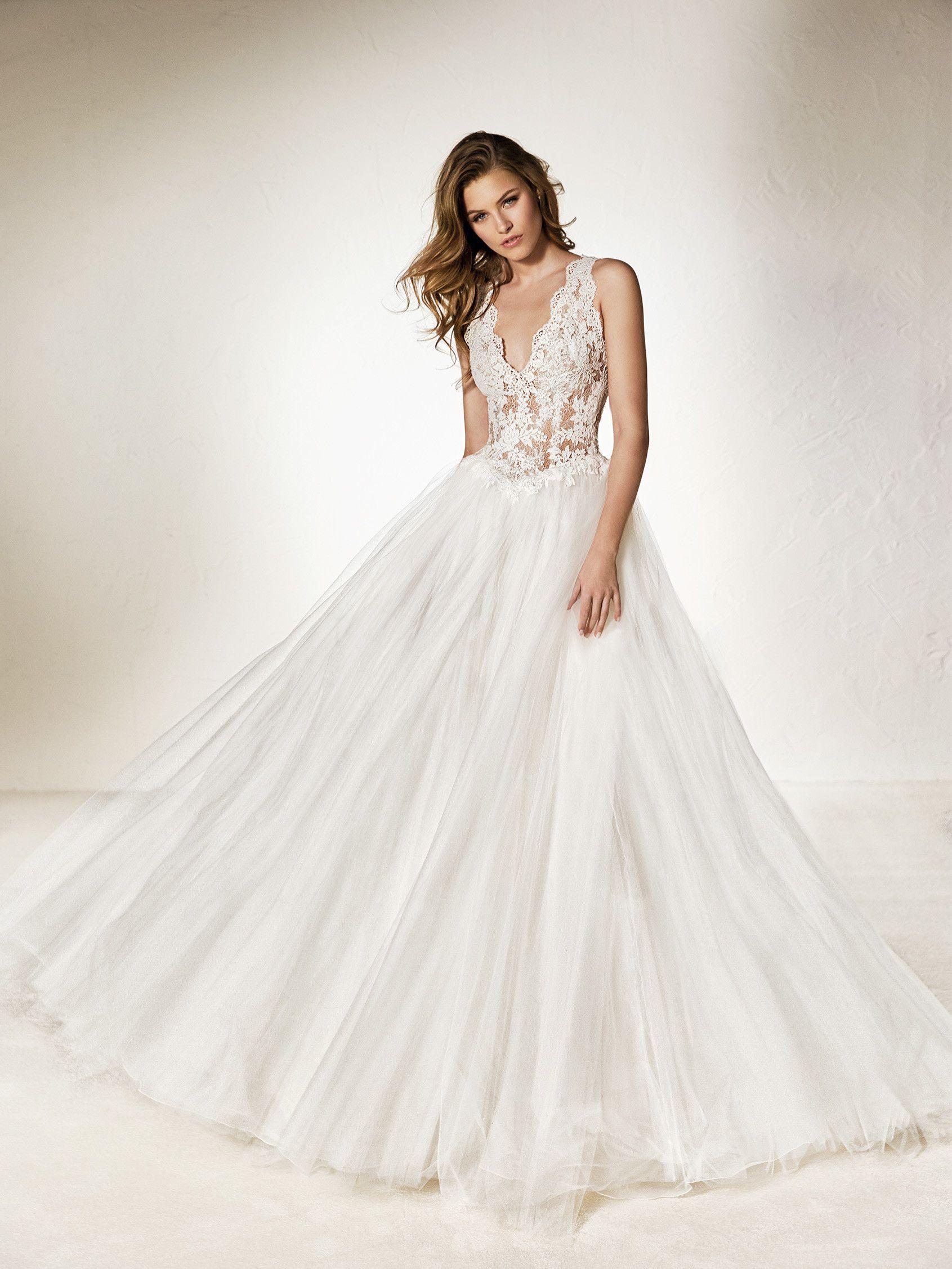 vestido de novia corte princesa pronovias
