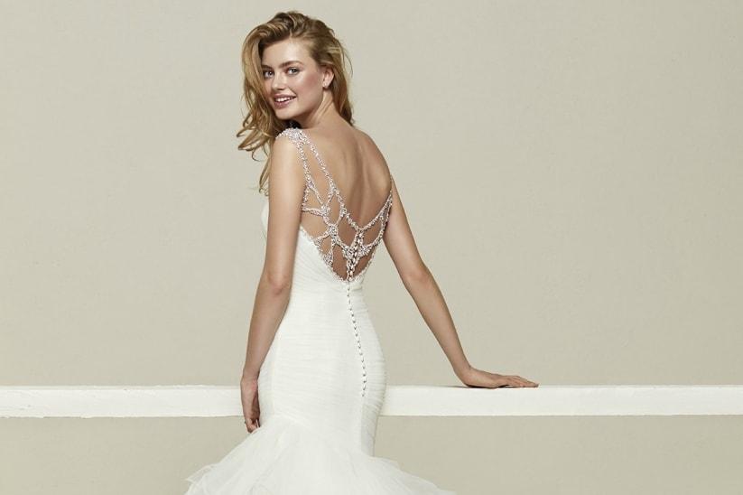 vestidos de novia espalda descubierta de pronovias