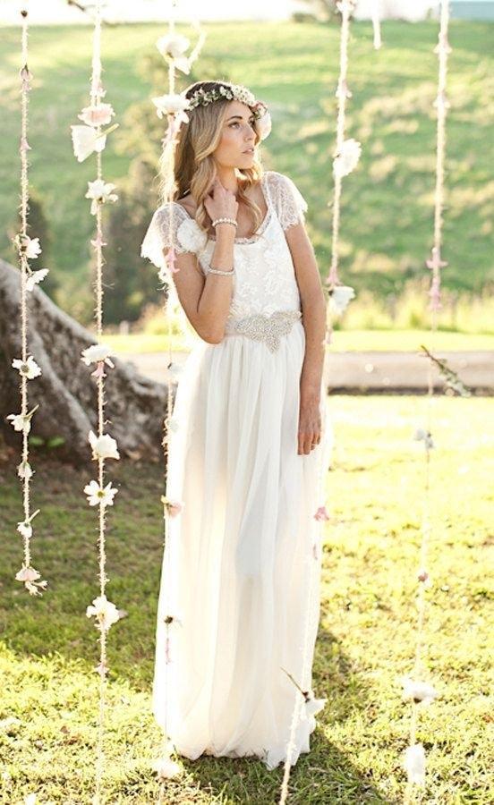 vestidos de novia romanticos y bohemios