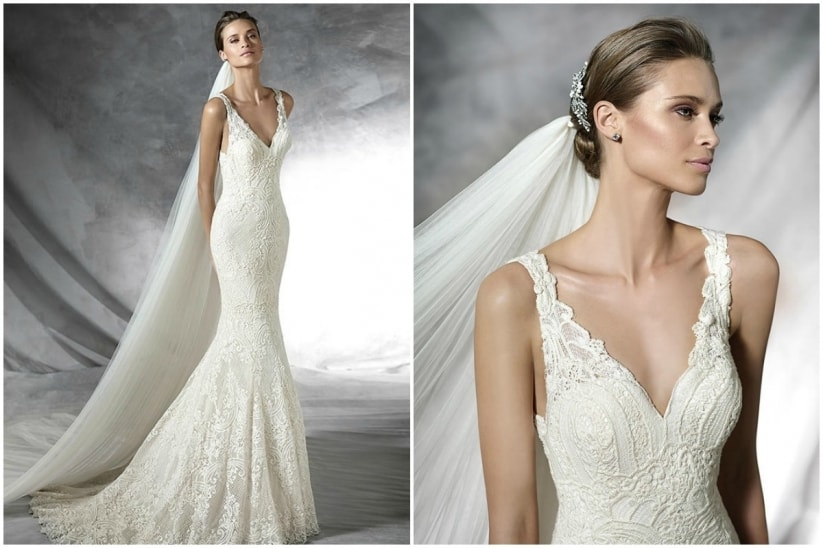 vestidos de novia romanticos y sencillos
