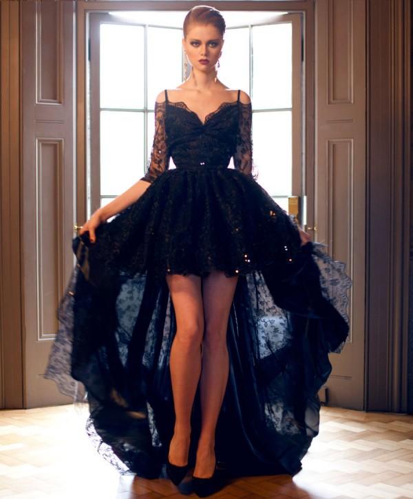 vestidos de novia negros modelos